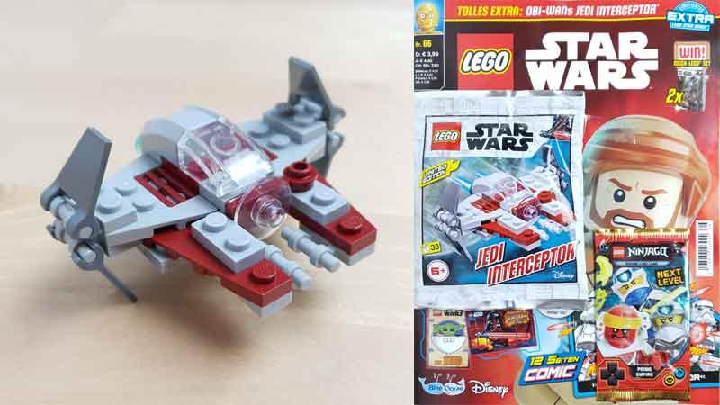 LEGO® Star Wars Magazin Nr. 66 mit Jedi Interceptor von Obi -Wan Kenobi