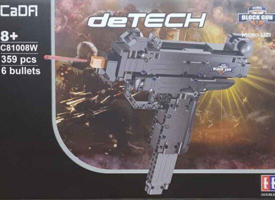 """CaDA deTech C81008W Block Gun """"Micro Uzi"""" - Klemmbaustein-Waffe für kleine und große Jungs"""