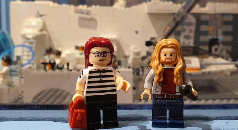 Steine-Kanal auf der LEGO-Ausstellung im Kiekeberg