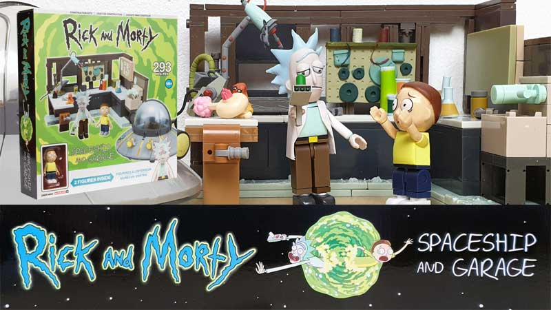 Rick and Morty Spaceship and Garage