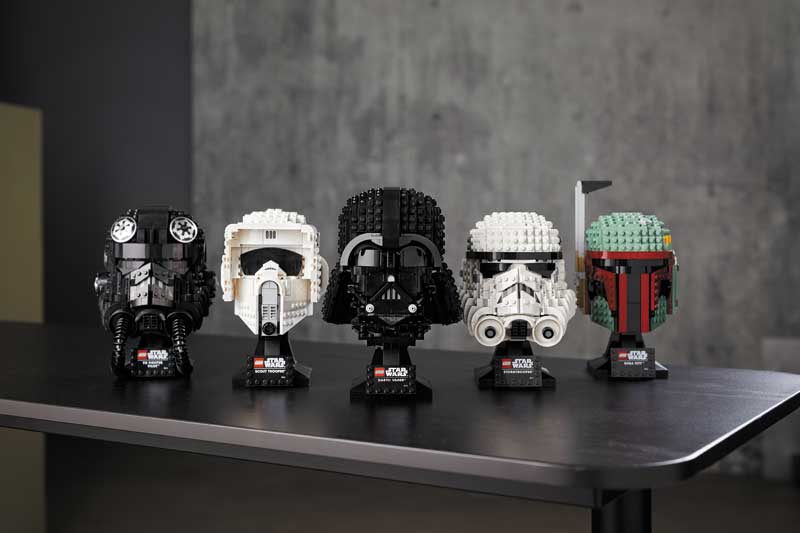 LEGO Star Wars Helme Übersicht