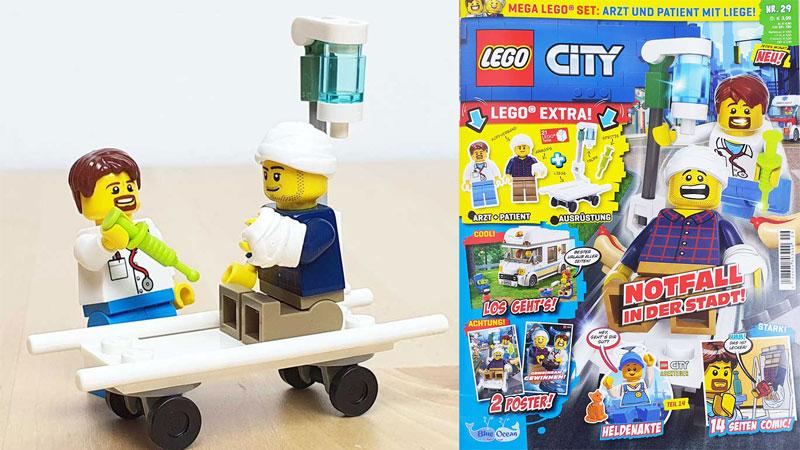 Lego City Magazin 29/21 mit zwei Minifiguren
