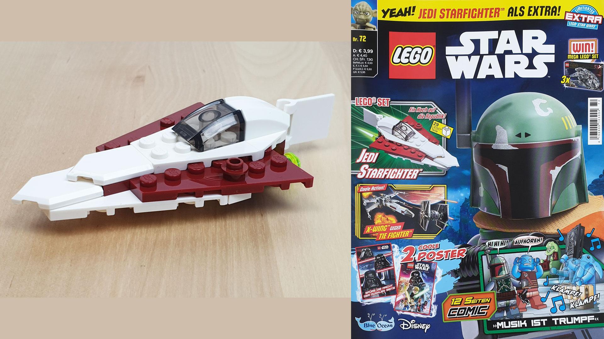 LEGO® Star Wars™ Magazin 72/2021 mit Jedi Starfighter™