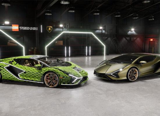 LEGO® Technic™ Lamborghini Sián FKP 37 in Lebensgröße nachgebaut