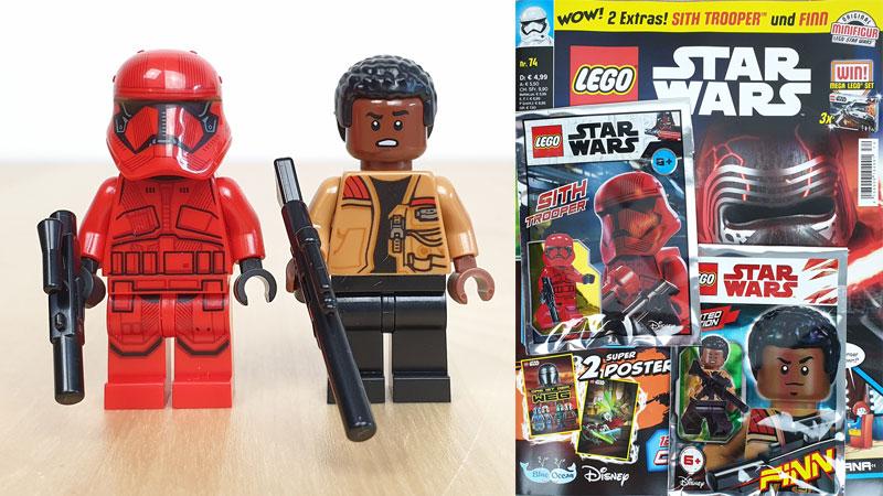 LEGO® Star Wars™ Magazin Nr. 74/2021 mit Sith Trooper und Finn Minifiguren