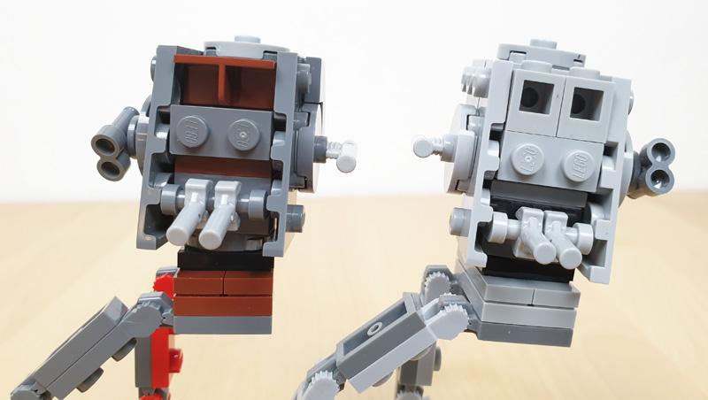 LEGO® AT-ST™ und AT-ST™Raider  im Vergleich