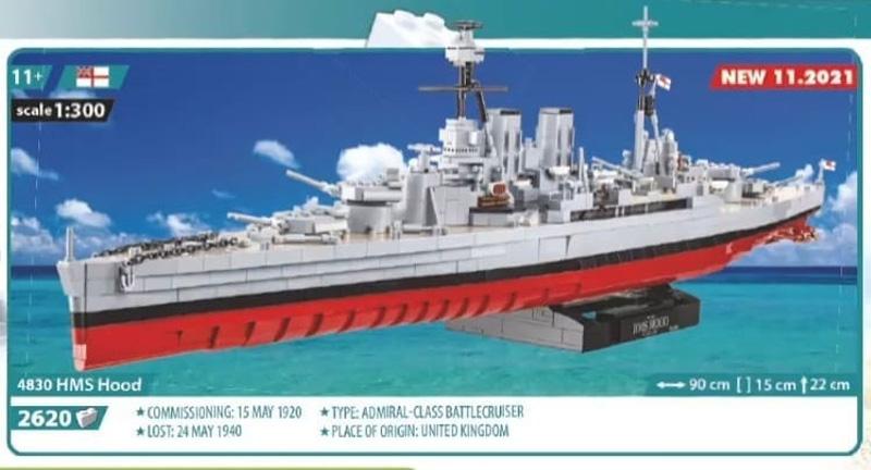 COBI HMS Hood 4830
