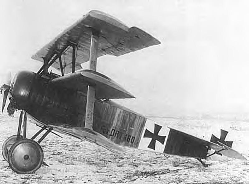 Die originale Fokker Dr.1. Red Baron