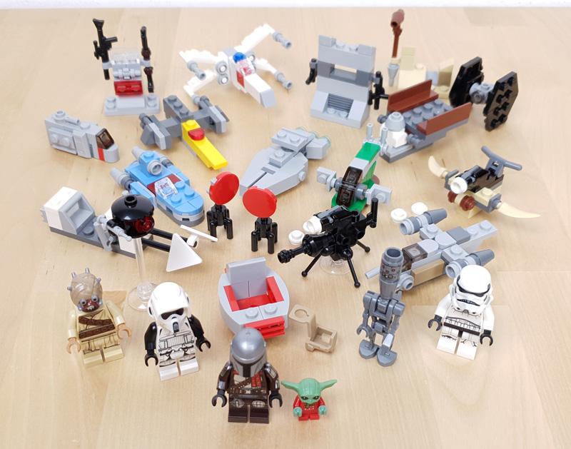Der gesamte Inhalt aus dem Star Wars Adventskalender