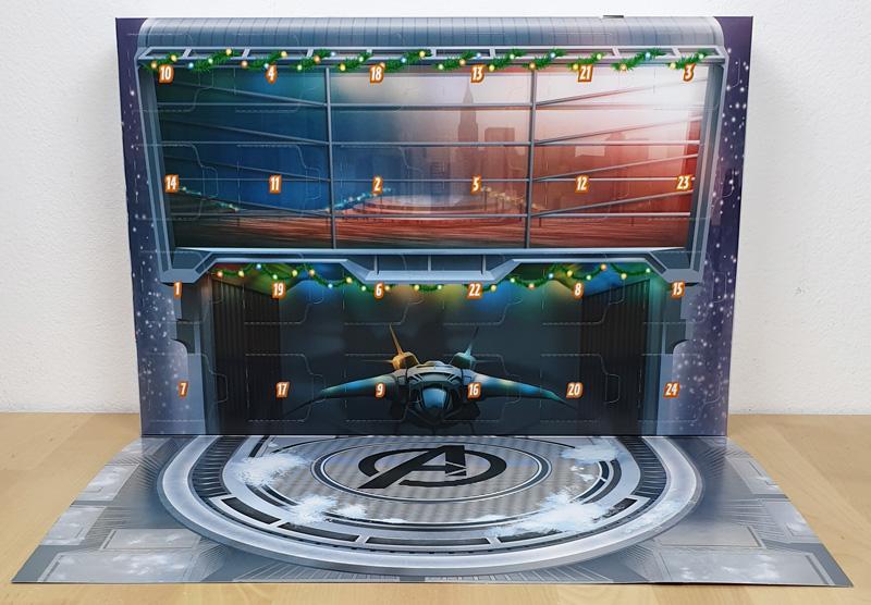 LEGO Marvel Adventskalender aufklappbares Diorama