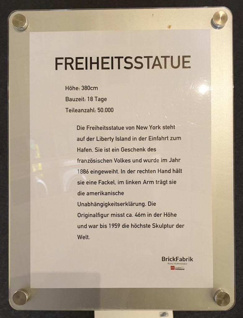 Ausstellung BrickFabrik im Elbe Einkaufszentrum, Freiheitsstatue